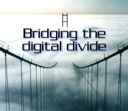 A bridge symbolising the potential covid19 has had in levelling the digital divide between first and third world